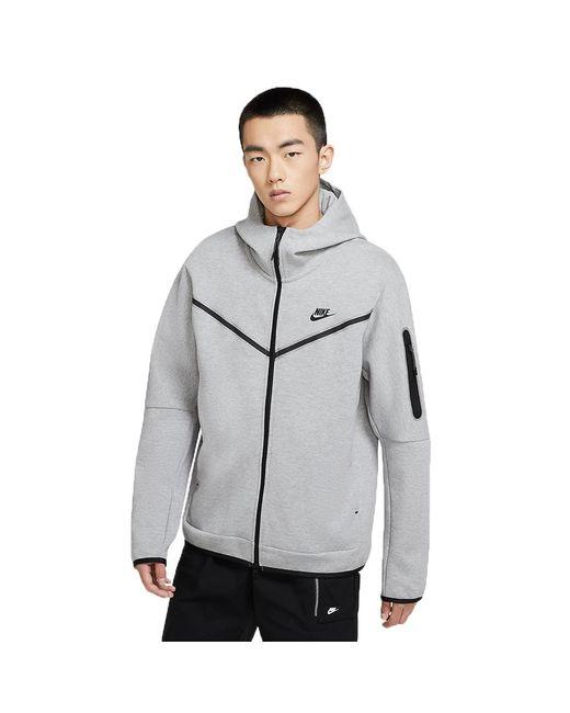 Nike Gray Sportswear Tech Fleece Hoodie Dark Grey/blackcu4489-063 for men