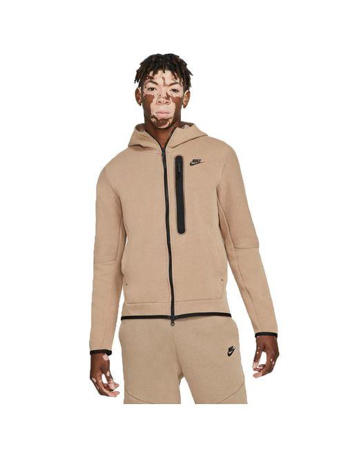 Nike Natural Sportswear Tech Fleece Hoodie Taupe Haze/blackdd3100-229 for men