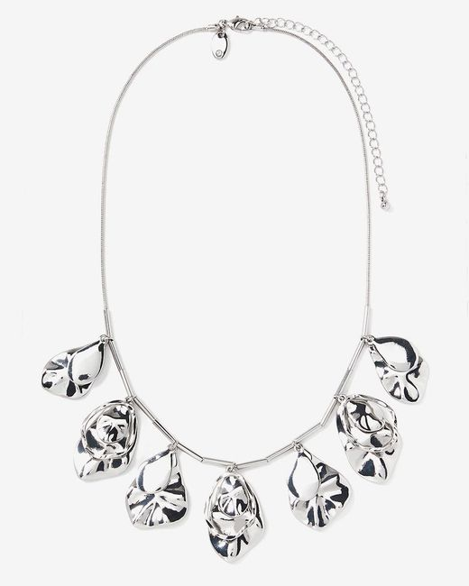 Addition Elle - Metallic Organic Shape Dangling Necklace - Lyst