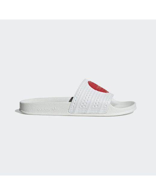 Adidas Adilette in White für Herren
