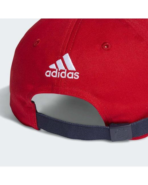 6cf8a3a5 ... Adidas - Red Fc Bayern 3-stripes Hat for Men - Lyst