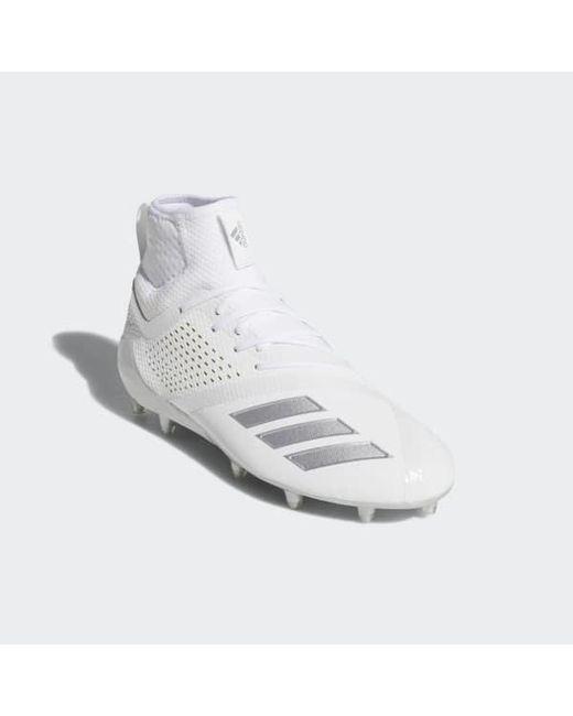 ... Adidas - White Adizero 5-star 7.0 Lax Mid Cleats for Men - Lyst ... e8dc0bae9
