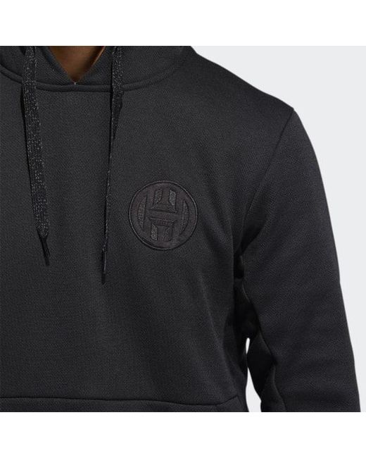 0102b5eac ... Adidas - Black Harden Pullover Hoodie for Men - Lyst ...