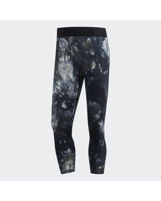 Adidas Black Alphaskin Parley 3/4 Tights for men