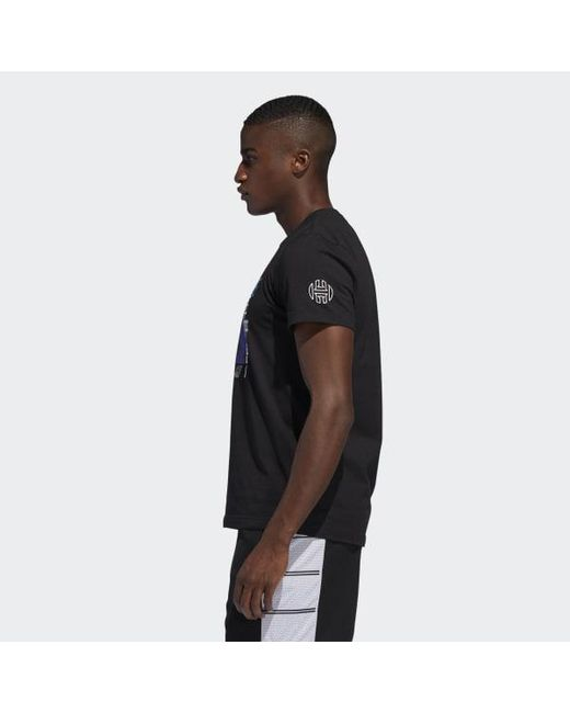 b93df1bed338 ... Adidas - Black Harden Verb Graphic Tee for Men - Lyst ...
