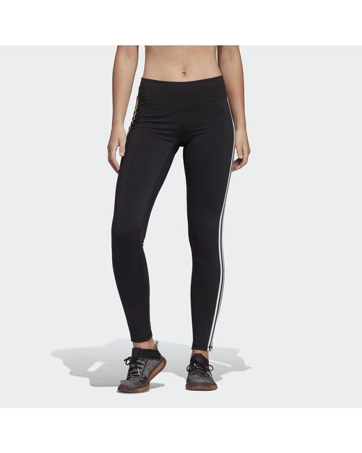 Adidas Black Believe This 3-stripes Leggings