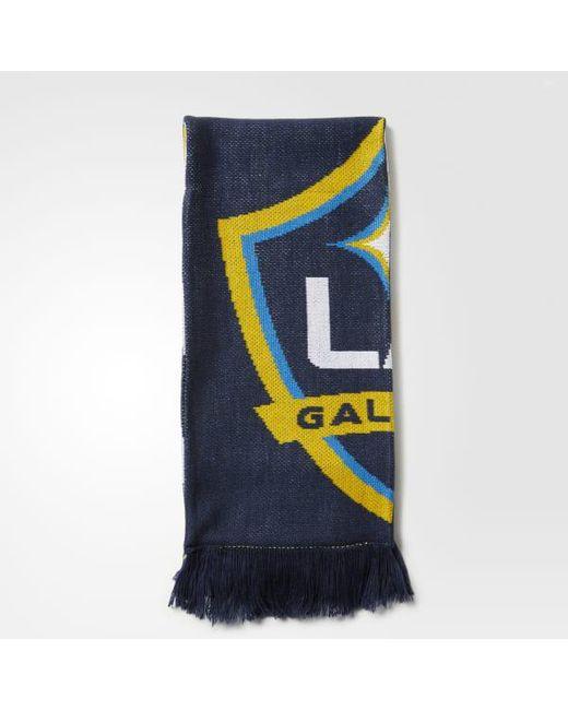 Adidas - Blue La Galaxy Jacquard Scarf for Men - Lyst