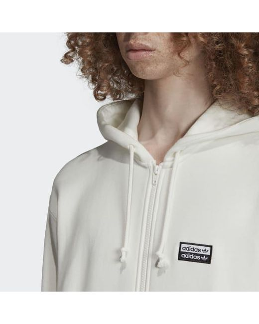 online store look good shoes sale 50% price adidas Cotton R.y.v. Full-zip Hoodie in White for Men - Lyst