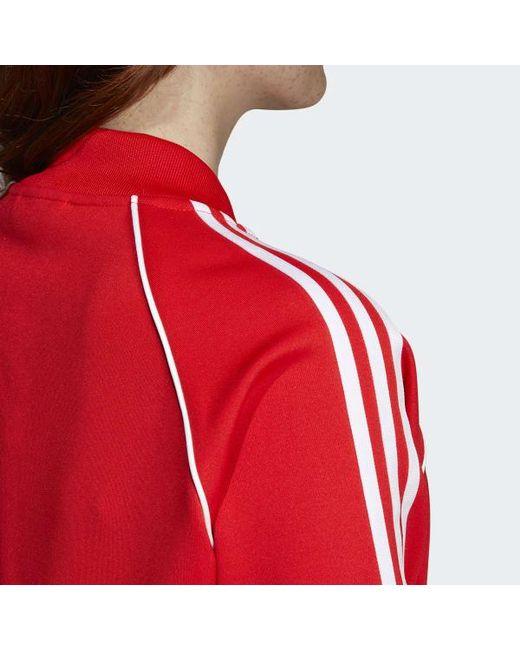 a1b91540adb8 Lyst - adidas V-day Sst Track Jacket in Red - Save 43%