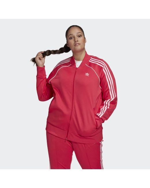 Adidas Primeblue Sst Trainingsjack (grote Maat) in het Pink