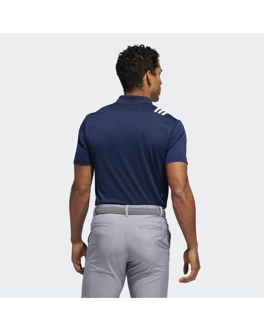 adidas 3 stripe polo shirt mens
