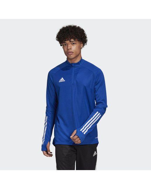 Adidas Condivo 20 Training Voetbalshirt in het Blue voor heren