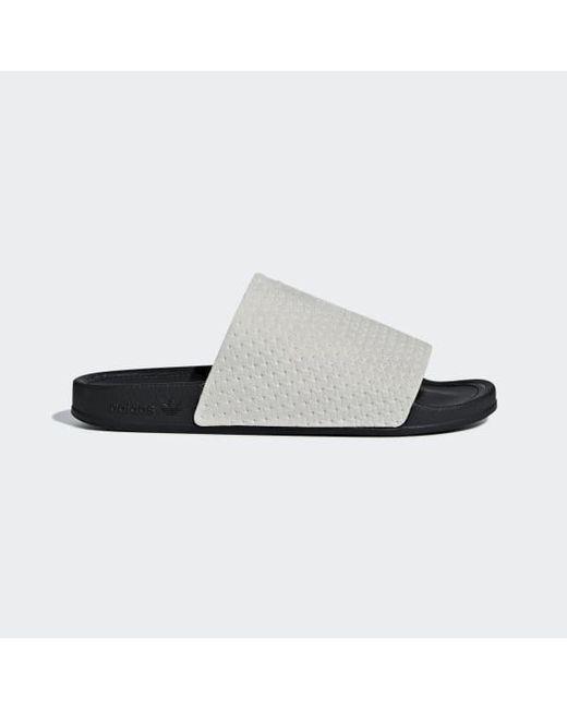 51b29a5086fd Adidas - Gray Adilette Luxe Slides - Lyst ...