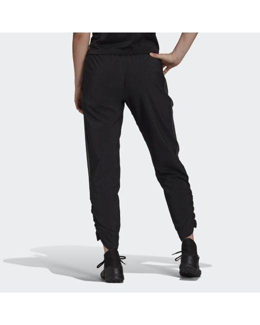 Adidas Tiro Woven Ruched Broek in het Black