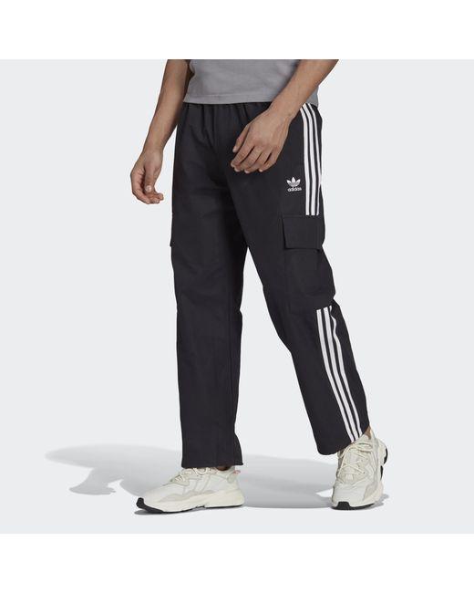 Adidas Black Adicolor Classics 3-stripes Cargo Tracksuit Bottoms for men