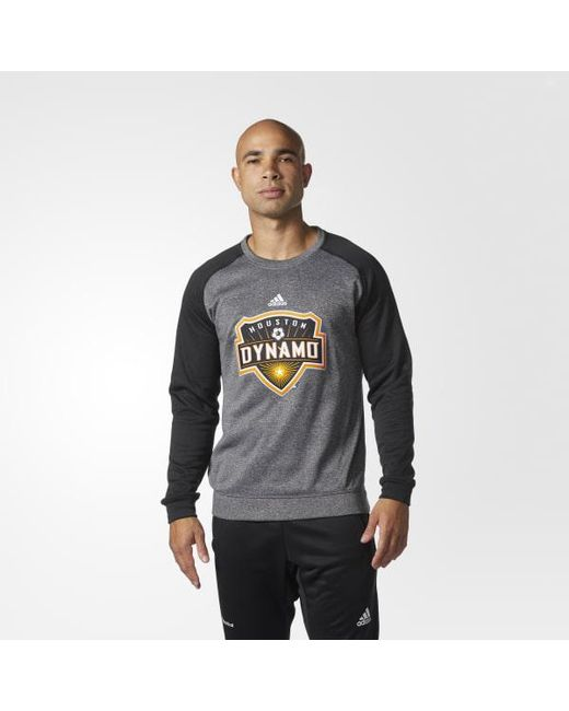 Adidas - Gray Houston Dynamo Ultimate Crew Sweatshirt for Men - Lyst
