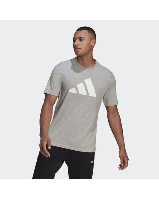 Adidas Gray Sportswear Logo T-shirt for men