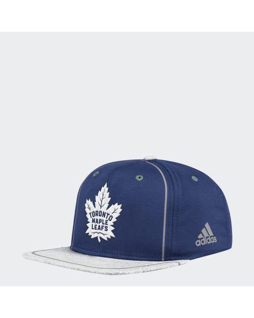 272e7b0615a Adidas - Blue Maple Leafs Flat Brim Hat for Men - Lyst ...
