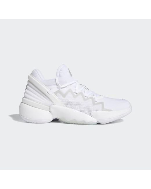Adidas White Donovan Mitchell D.o.n. Issue #2 Shoes