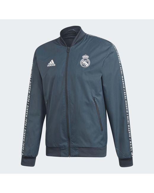 Synthetik Für In Adidas Real Herren Madrid Jacke Anthem Grau