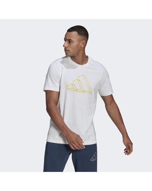 Adidas Sportswear Graphic T-shirt in het White voor heren