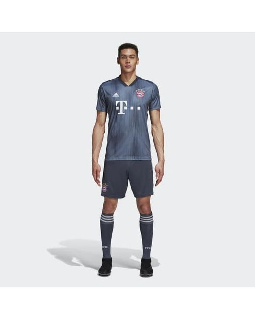 06a80077839 ... Adidas - Gray Fc Bayern Third Jersey for Men - Lyst ...