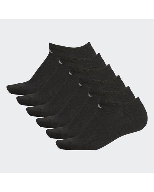 9d382420ca80 Lyst - Adidas Athletic No-show Socks 6 Pairs in Black