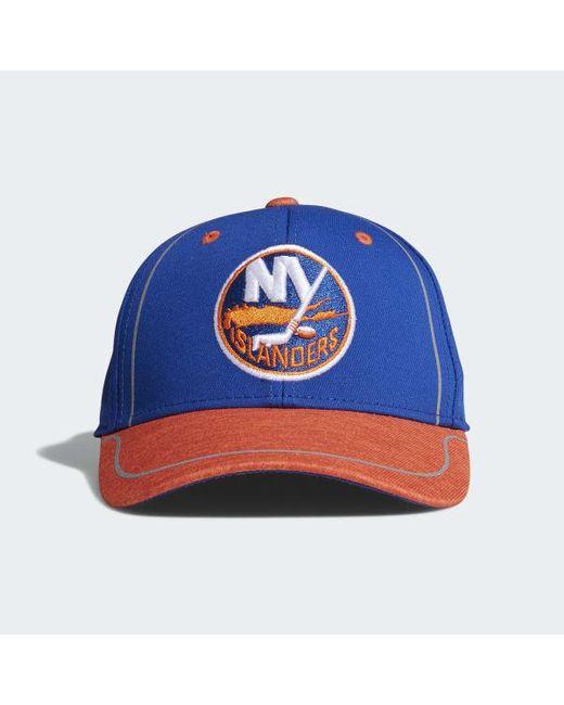 Adidas - Blue Islanders Flex Draft Hat for Men - Lyst ... b56f2b39f