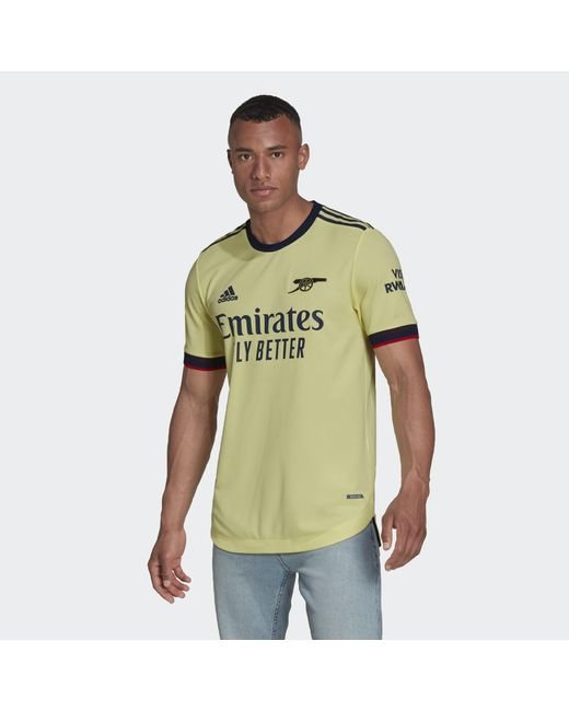 Adidas Yellow Arsenal 21/22 Away Authentic Jersey for men