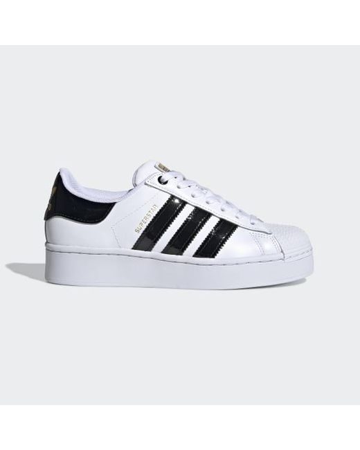 Adidas White Superstar Bold Women's Shoes