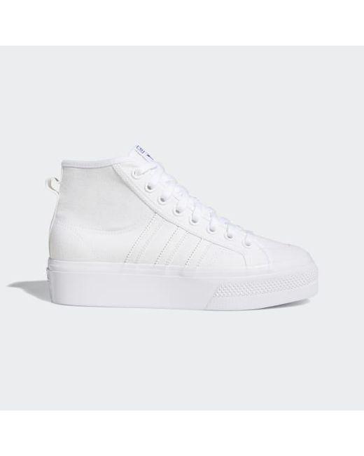 adidas white platform