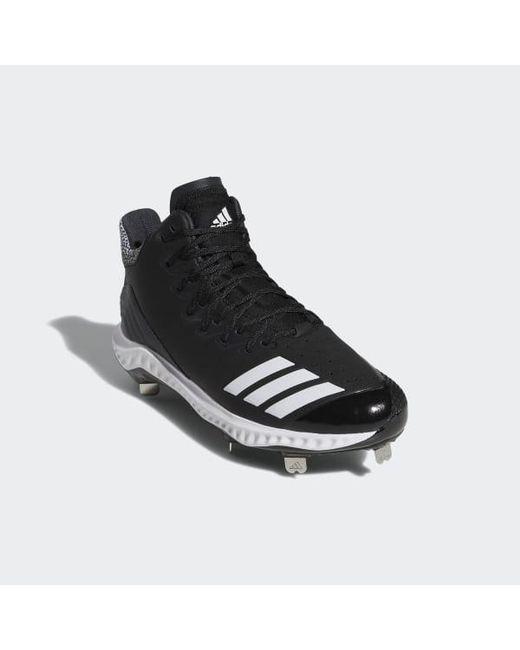 e7db561138da0 ... Adidas - Black Icon Bounce Mid Cleats for Men - Lyst ...