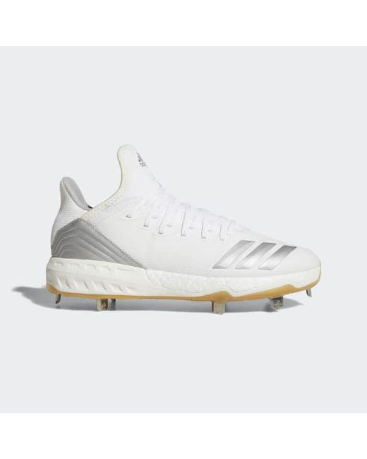 ba4c8bfffa37c Adidas - White Boost Icon 4 Cleats for Men - Lyst ...
