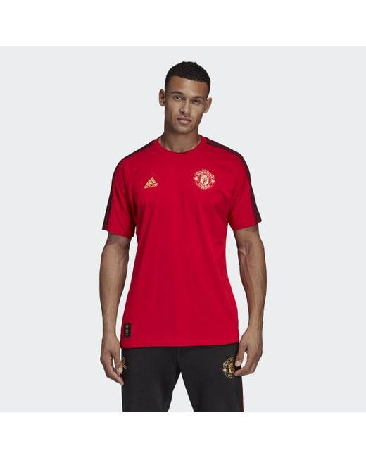 c6d19ed723d Adidas - Red Manchester United Chinese New Year Tee for Men - Lyst ...