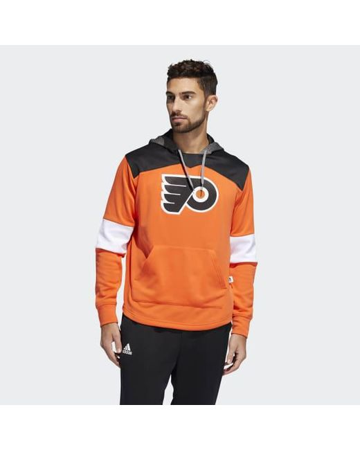 Lyst - adidas Flyers Platinum Jersey Hoodie in Orange for Men - Save 50% b7aba474e