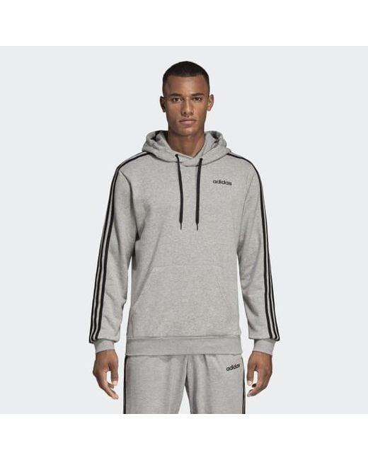 b0845c05c083 Adidas - Gray Essentials 3-stripes Hoodie for Men - Lyst ...