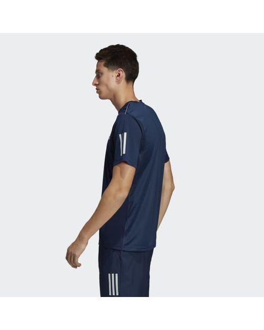 f0d2057bb ... Adidas - Blue 3-stripes Club Tee for Men - Lyst ...