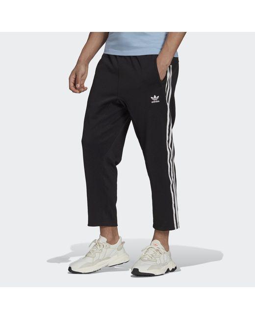 Adidas Black Adicolor Classics 3-stripes 7/8 Pants for men