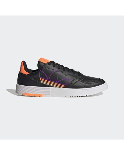 Chaussure Supercourt Adidas en coloris Black