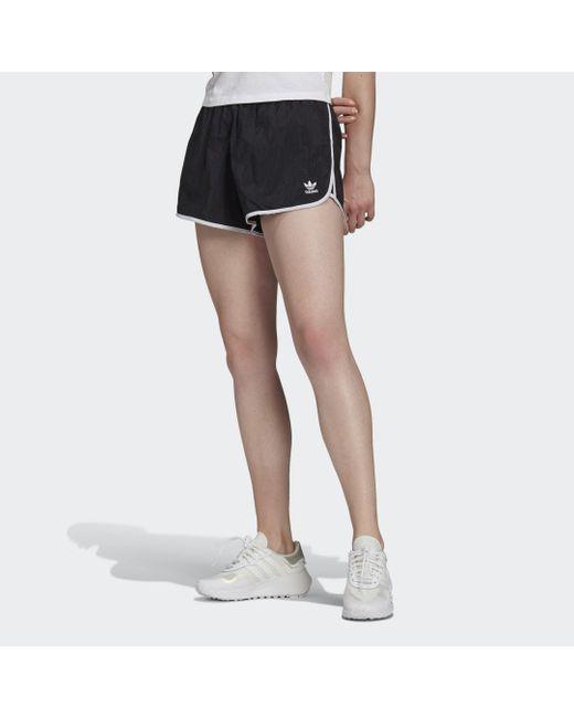 Adidas Black Adicolor Classics 3-Streifen Shorts