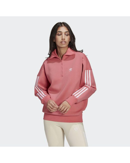Adidas Pink Half-zip Sweatshirt