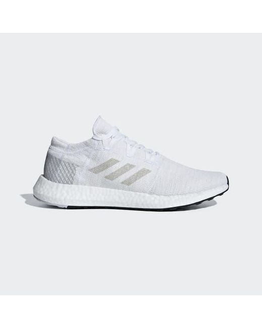 2a6005a5023ee Adidas - White Pureboost Go Shoes for Men - Lyst ...