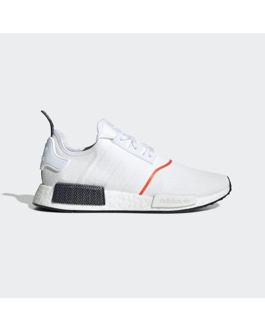 Adidas Lace Nmd R1 Shoes In White Lyst