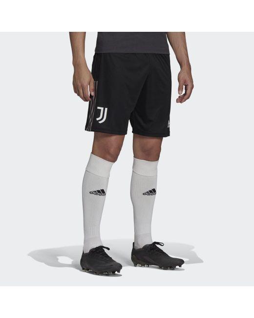 Pantalón corto entrenamiento Juventus Tiro Adidas de hombre de color Black