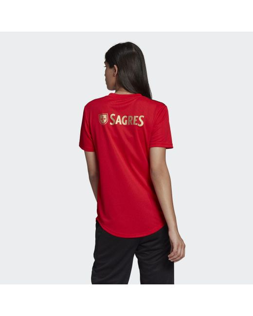 Camiseta primera equipación Benfica Adidas de color Red