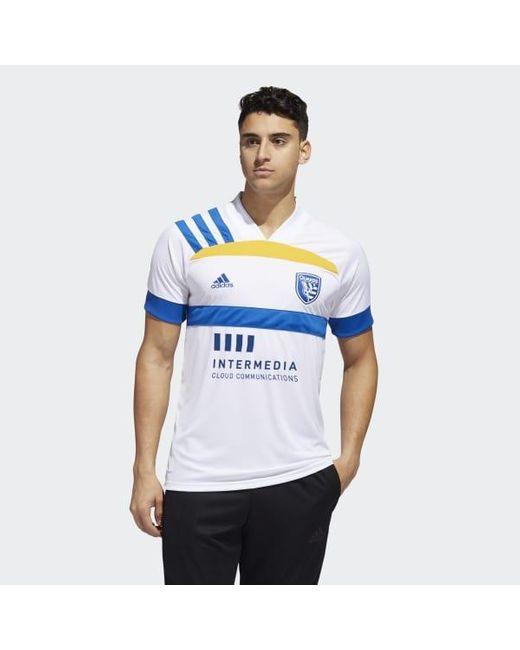 Adidas White San Jose Earthquakes Away Jersey for men