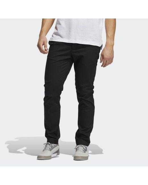 Pantaloni adicross Chino di Adidas in Black da Uomo
