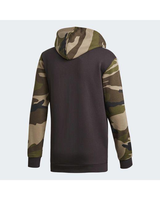 Kapuzenjacke Für In Baumwolle Adidas Schwarz Camouflage nwN80mv