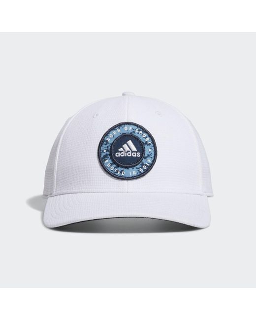 Adidas Circle Patch Snapback Pet in het White voor heren