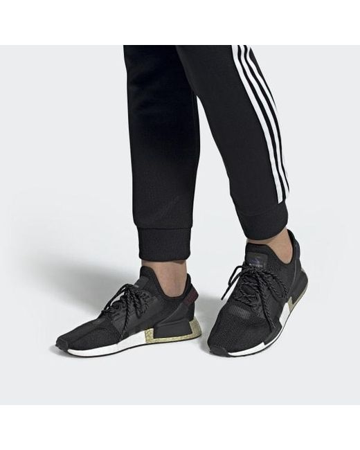 Adidas Lace Nmd R1 V2 Shoes In Black Lyst